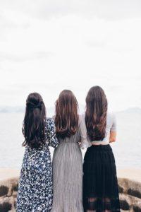 3人の髪の違い